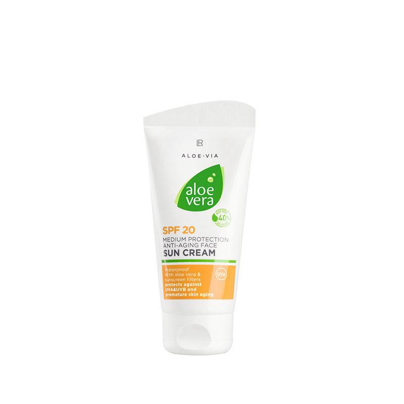 Crème solaire anti-âge 20 Aloe Vera