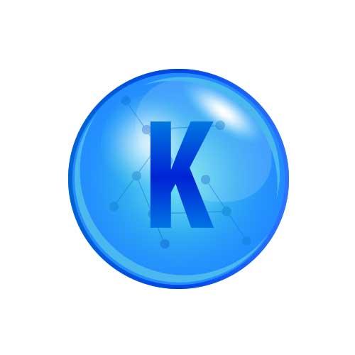 Comprimé composé de minéraux et d'oligo-éléments : potassium