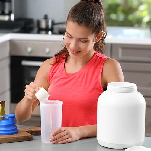 Protéine en poudre saveur vanille : femme