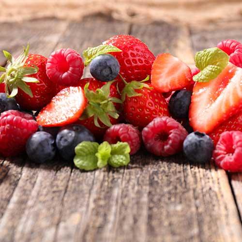 Sirop riche en vitamine aux fruits rouges : fruits rouges